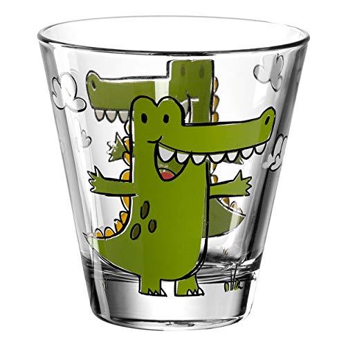 Leonardo Bambini Trink-Glas, Kinder-Becher aus Glas mit Tier-Motiv, spülmaschinengeeignetes Saft-Glas, 1 Stück, 215 ml, 017900