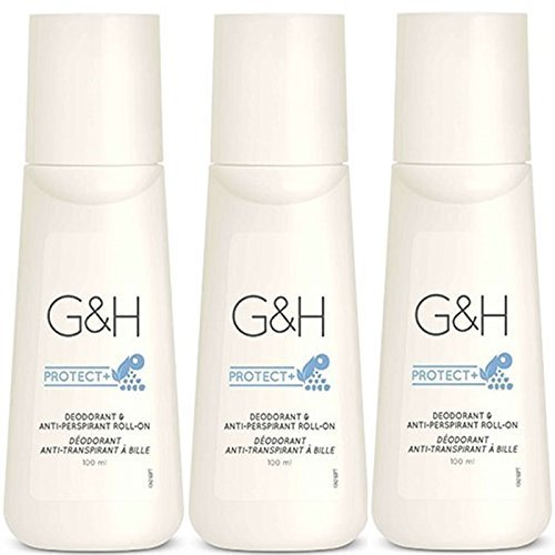 X 3 bottle G&H Protect+ Deodorant & Anti-Perspirant Roll-On size 100 ml.