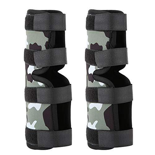 Pssopp 1 Paar Hunde-Beinbandage Hundekniepolster Hundevorderbein Knie Schutz Bandage Kniebandage für Hunde, Haustier chirurgische Verletzung Bandagen(S-Tarnen)
