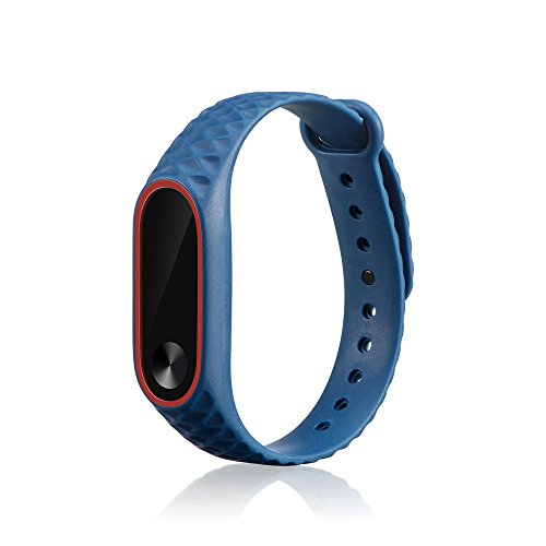 KIMODO Replacement Silicone Watch Bracelet Band Wrist Strap For Xiaomi Mi Band 2
