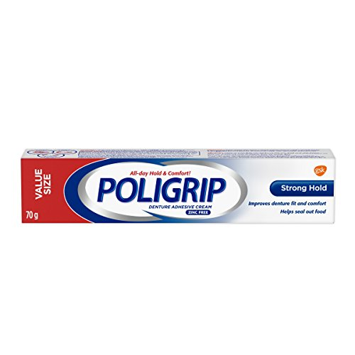 Poligrip Strong Hold Denture Adhesive Cream VALUE SIZE 70g
