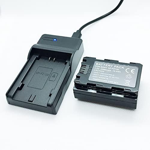Cámaras Paquete de batería rápida y kit de cargador USB Reemplazo Compatible con Sony Alpha A9 A7iii A7 III A7Riii A7R iii A7R3 Cámaras de lentes intercambiables sin espejo de fotograma completo