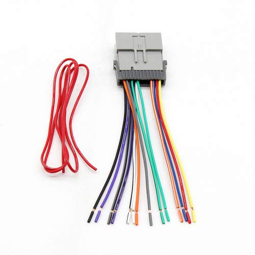 RED WOLF Replacement Stereo Radio Wiring Harness Connector for Select GM Chevy GMC 2000-2012 Model