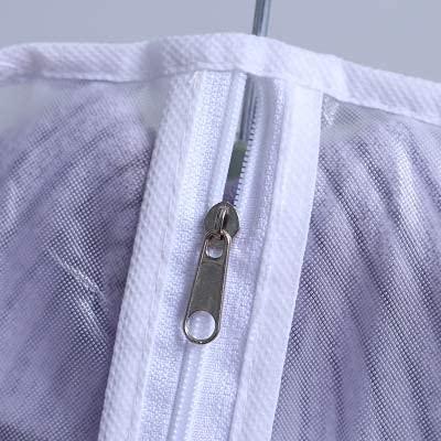 Nrpfell 15 piezas bolsa de cubierta de ropa PEVA protector de tela armario colgante bolsa de almacenamiento cubierta protectora de polvo para vestidos, trajes, abrigos