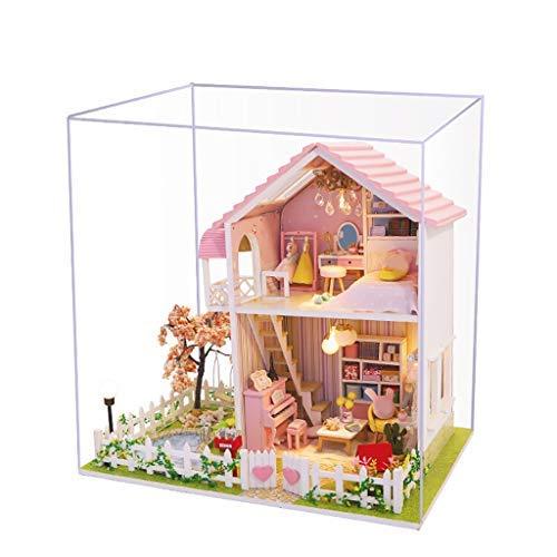 Lukame Diy 3D Casa de Muñecas de Madera Habitación de Flores En Miniatura Decorar Regalo de Juguete Artesanal(Multicolor)