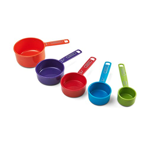 Farberware Professional Plastic Measuring Cups with Coffee Spoon, Set of 5, Assorted...