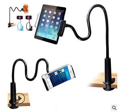 Olymajy Gooseneck Tablet Stand Universal Mobile Phone Holder 360-Degree Rotating Smartphone Holder, Flexible Tablet Holder, Suitable for Tablet Devices And All Smartphones