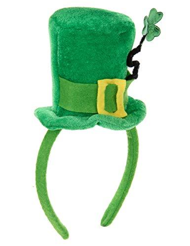 DEGUISE TOI - Serre-tête Mini Chapeau Tige trèfle Femme Saint Patrick - Taille Unique