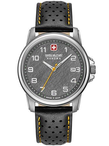 Swiss Military Hanowa Unisex Erwachsene Analog Quarz Uhr mit Edelstahl Armband 06-4231.7.04.009