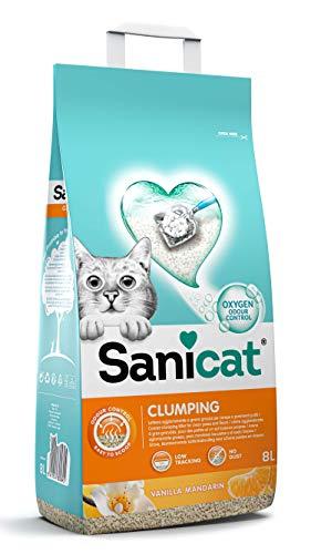 Sanicat Clumping + Vanilla Tangerine 8 L