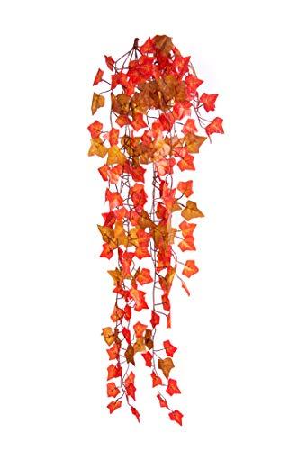 Best Artificial, pianta di edera a cascata con foglie di vite, 100 cm Two Tone Autumn English - TI15