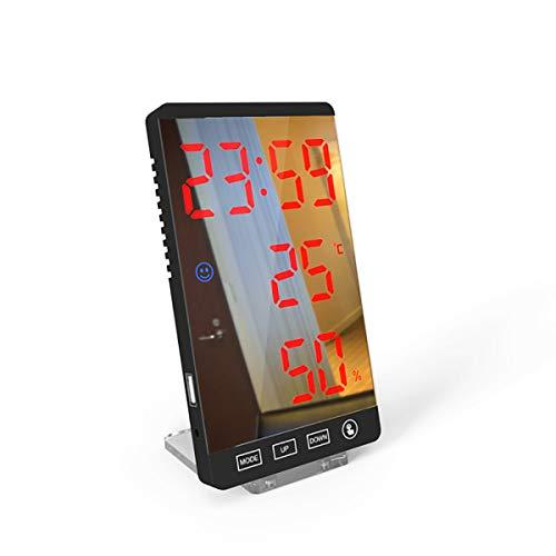 SWETIY Reloj Despertador Digital, Despertador Alarma Dual Digital Con Temporizador De Siesta, 4 Brillo, 8 Volume Ajustable Función Snooze, Puerto De Carga USB 12/24 H Reloj Alarma Para Dormitorio,Rojo
