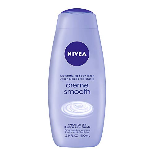 NIVEA Crème Smooth Moisturizing Body Wash - Fresh Scent for Dry Skin - 16.9 fl. oz. Bottle (Pack of 3)