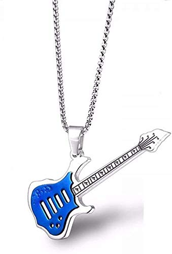 ZPPYMXGZ Co.,ltd Collar de Moda Accesorios Personalizados Collares Rock Guitar Colgante Collar...