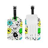 Etiqueta para equipaje con diseño de animales para perros, mujeres, hombres, maletas para niños Color-6 12.5 x 7cm