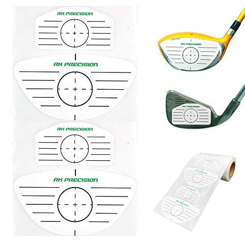RX PRECISION - Mixed Eisen & Driver Golf Impact Tape - 250 Etiketten/Label 125x Eisen / 125x Driver/HÖLZER - FÜR LH & RH - FACETAPE - Sweet Spot Analyse - SCHWUNGTRAINER