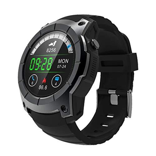 LYDB LYDB Uhr Smart GPS Watch Phone, 1,3 Zoll MTK2503, Netzwerk: 2G, Unterstützung SIM-Karte & GPS & Barometer & Pulsmesser & Schrittzähler & Schlafmonitor & Bluetooth (Schwarz)