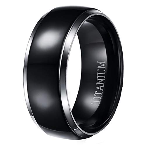 LaRaso & Co Black IP Titanium Wedding Band Ring for Women Men Couples His Hers 14