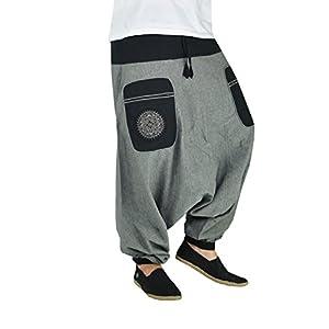 virblatt Pantalones Bombachos Mujer Chandal Pantalones cagados pantalón Harem Mujer – Stampfgewand SMgy | DeHippies.com