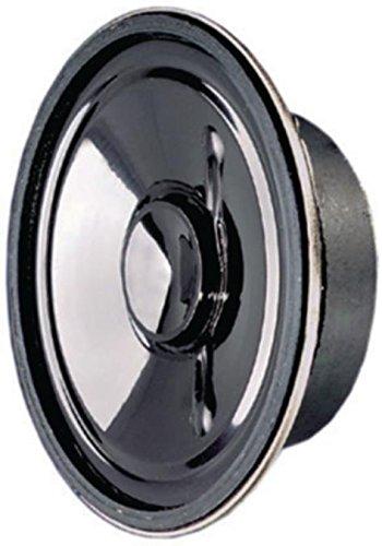 Visaton Breitbandlautsprecher 8 Ohm 3 W, Kleinlautsprecher mit Kunststoffmembran und Metallkorb Dank (973977000443)