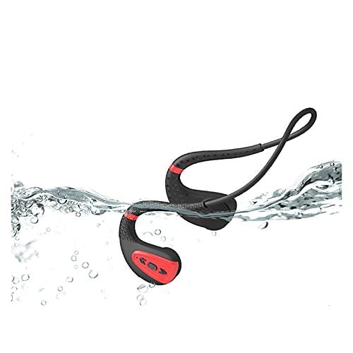 WQMA 2021 Auriculares De Nueva Conducción IPX8 Impermeable A Prueba De Agua Auriculares Bluetooth Bluetooth MP3 Player Deporte Auricular 16G Memoria Buceo Correr Compatible con Todo El Teléfono,C