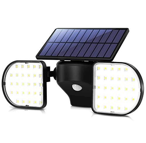 ソーラーライト 2灯式 屋外 白光 Vorally センサーライト 最新版 高輝度 角度調整自由 光と人感センサー 広範囲照射 IP65防水 防犯ライト 庭 玄関 駐車場 ガーデンライト 日本語取扱付属 1年保証 (昼白光)