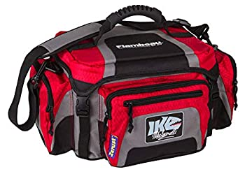 Flambeau Outdoors 400ZK-1 IKE 400 Tackle Bag Portable Fishing Organizer Shoulder Satchel with Tuff Tainers Inside - Gray/Red