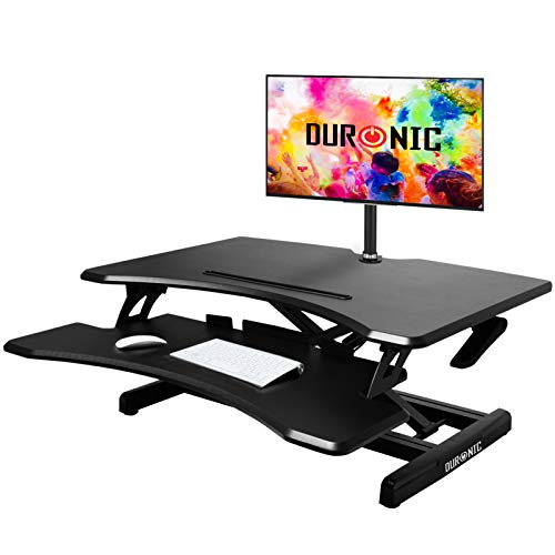 Duronic Sit-Stand Desk DM05D16 | Height Adjustable Office...