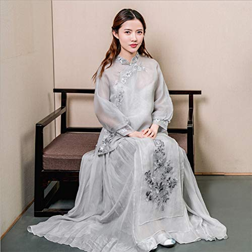 Vrouwen Oude Chinese Traditionele Hanfu Dress Cosplay Kostuum Tulle Lange Rok Evening Dress