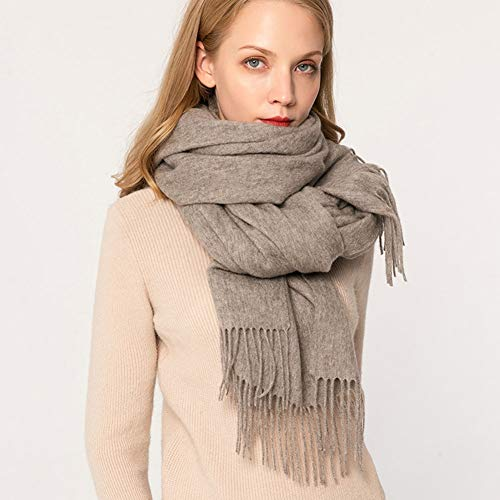 SXYD Soft Scarves 100% Wool Scarf Pashmina Shawls and Wraps for Women Cashmere Warm Winter More Thicker (Color : Color C)