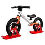 Snow Sledge Board Set for 12 inch Balance Bike Scooter Parts, No Pedal Training Bicycle Skiing Walker for Kids and Toddlers