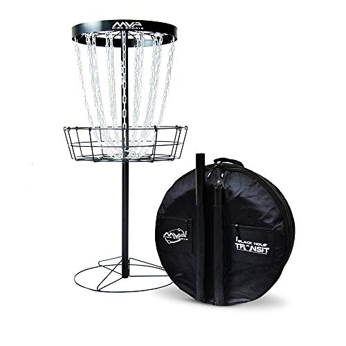 MVP Disc Sports Black Hole Pro 24 Chain Disc Golf Basket with Transit Bag