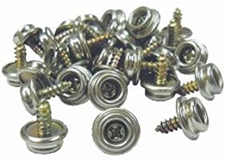 """75 PRO BOAT MARINE CANVAS COVER STAINLESS STEEL SCREW IN CANVAS SNAP STUDS 3//8/"""""""
