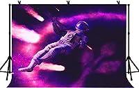 NEW7x5ft宇宙背景誕生日パーティー紫色の背景にベビーシャワーの装飾バナーの写真スタジオの小道具32
