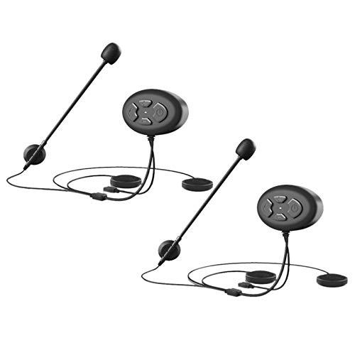 Gaoominy 1 Juegos de Intercomunicador DúPlex Casco Auriculares InaláMbricos Casco de Motocicleta