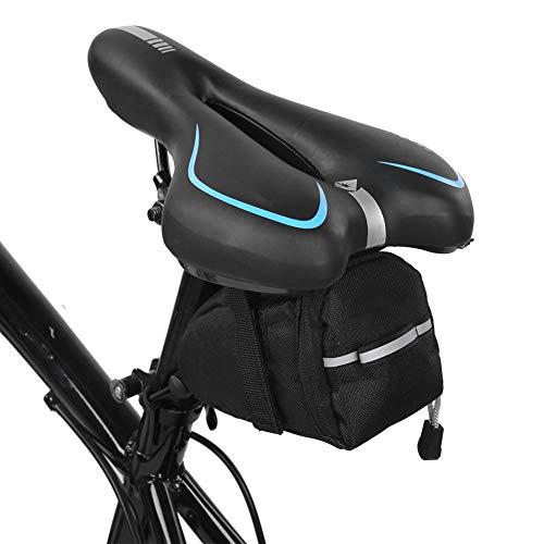 Yagosodee Bolsa de Sillín de Bicicleta Bolsa de Sillín de Bicicleta de Montaña Bolsa de Almacenamiento Trasera para Asiento de Bicicleta Bolsas de Bicicleta Impermeables Bolsa de Bicicleta