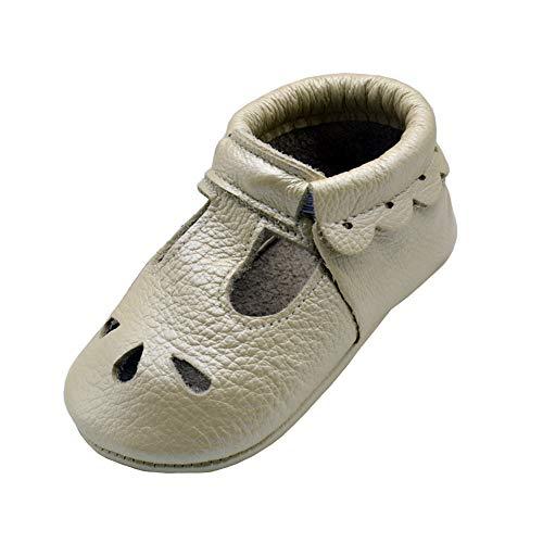 iEvolve Baby Mädchen Jungen Elefant Babyschuhe Baby Weiche Sohle Lederschuhe Baby Lauflernschuhe Krabbelschuhe(Perle Sandale,18-24 Monate)