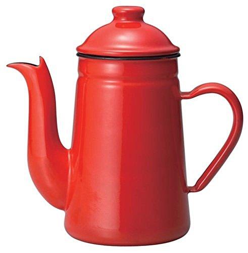 Kalita Emaille Pot Ketel Koffie Tatsujin Pelikaan 1l Rood