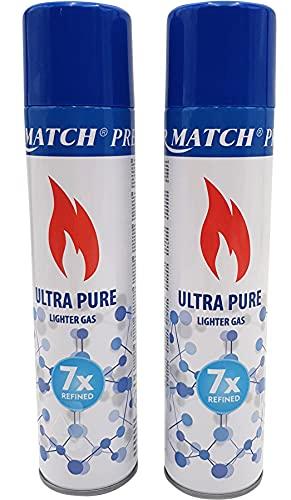Premium Feuerzeuggas Nachfüllgas Feuerzeug Butangas + 1 gratis Feuerzeug allaroundprofi24 (2X ISO Butangas)