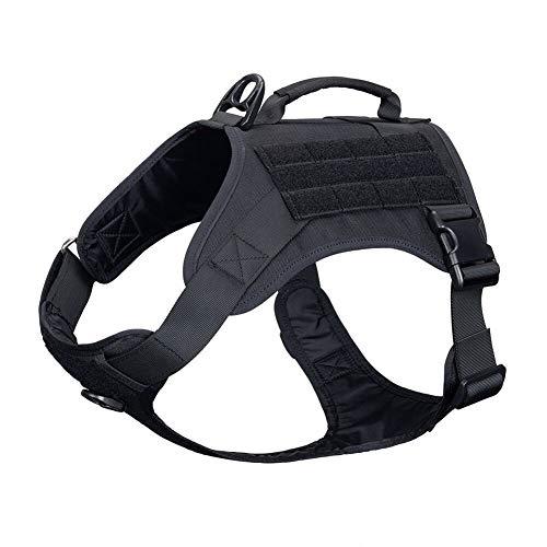 Frieed Outdoor Pet Dog Harness Training Dog Clothes Adjustable Pet Dog for Dog Vest Durable (Color : BLK, Size : L)