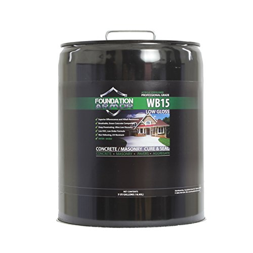 Armor WB15 Water Based Low Gloss Acrylic Concrete Sealer and Cure and Seal