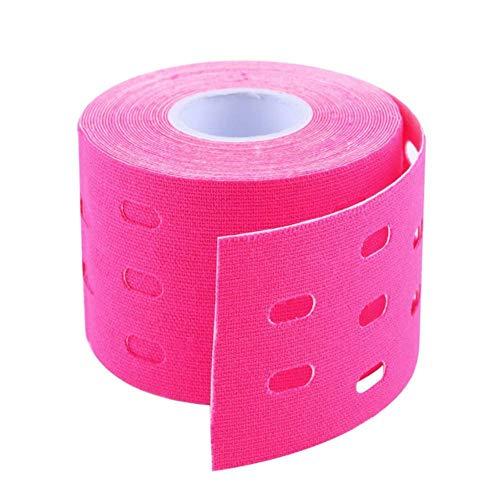 NJY 1Pc Muscles Sports CareTape Kleber 500 cm x 5 cm, rosarot
