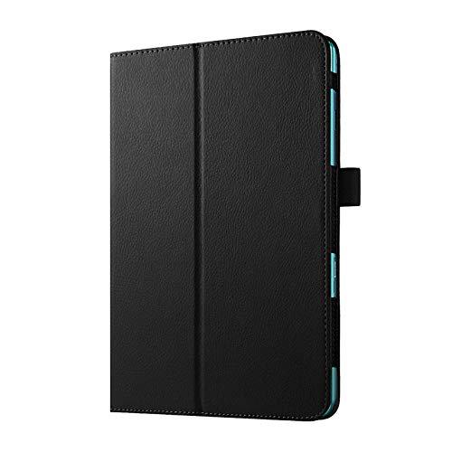 XIAOYAN para Samsung Galaxy Tab A 9.7 T550 T555 PU Funda de Cuero con Soporte para Galaxy Tab A 9.7 Carcasa Protectora de Tableta-Negro