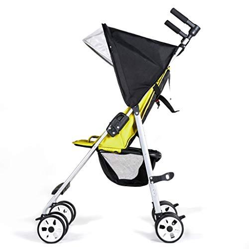 MAOSF Kinderwagen Ultraleicht, einfach zu falten, sitzen und liegen im tragbaren Kinderhandwagen-Taschenschirm-Auto, kann mit einer Hand gedrückt werden, geeignet für Kinder von 6 Monaten bis 5 Jahre