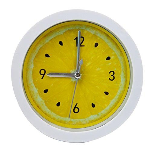 LABANCA Creative Round Alarm Clock Home Decor Lemon Quartz Clock Yellow