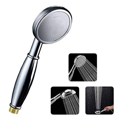 LEEFE Heavy Duty Copper Shower Head with Powerful Shower Spray against Low Pressure Water, 40% Washable Water Saving Handheld Showerhead
