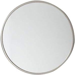 GJH-Miroir Miroir Simple de vanité de Salle de Bains, Miroir Rond Nordique de décoration de Mur (Color : Blanc, Taille : 50cm)