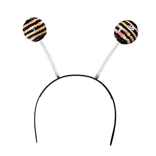 Bristol Novelty- Serre-tête à Paillettes en Forme d'abeille, BA048, Multicolore, Taille Unique