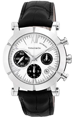 [ティファニー] 腕時計 Atlas Gent シルバー/ブラック文字盤 自動巻 アリゲーター革ベルト Z1000.82.12A21A...