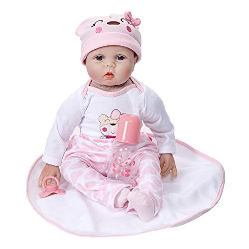 circulor-123 Baby Doll Vinilo de Silicona Suave Realista Reborn Baby Girl Hecho a Mano Chico Regalo de cumpleaños Muñeca bebé Niña con Funciones